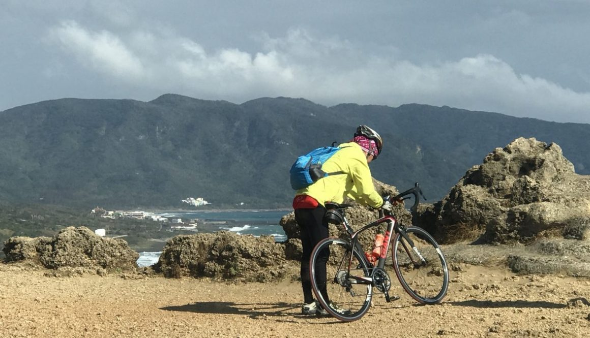 Cyclist in Kenting Province Taiwan